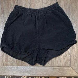 American Apparel high-waisted corduroy shorts